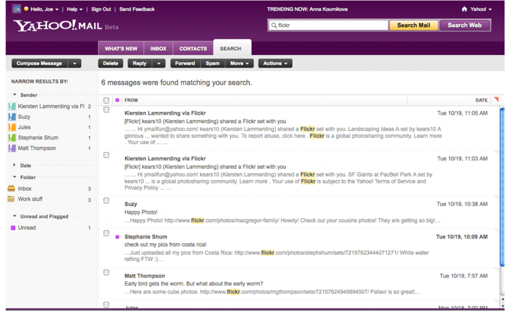 compose mail mail search yahoo