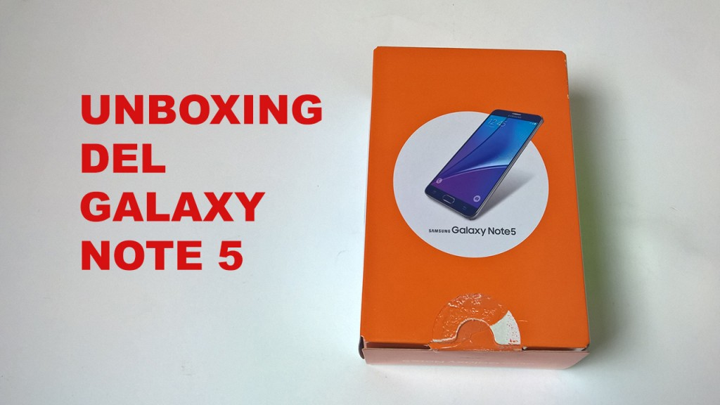 Unboxing Note 5