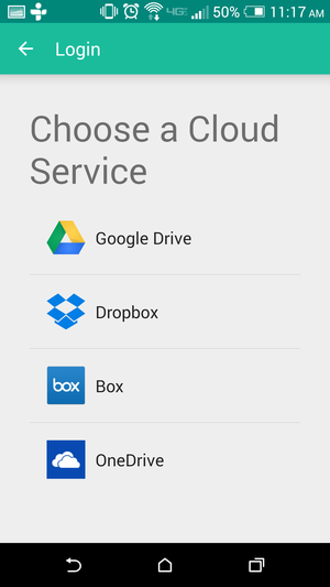 Unclouded maneja Google Drive, Dropbox, Box, y OneDrive.