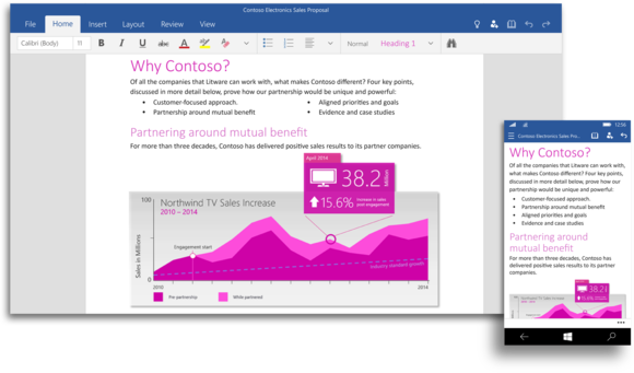 Office Word Windows 10 preview